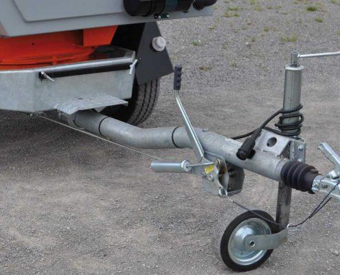 Holzhäcksler Fahrgestell und Rahmen