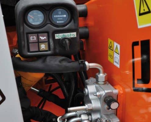 Holzhäcksler Steuerung und Hydraulik